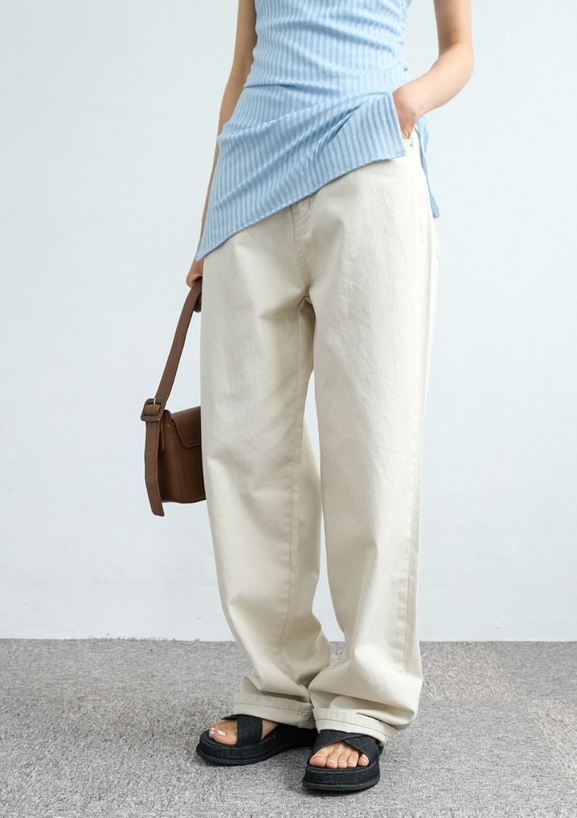 [당일출고] summer cotton straight pants [2 colors]