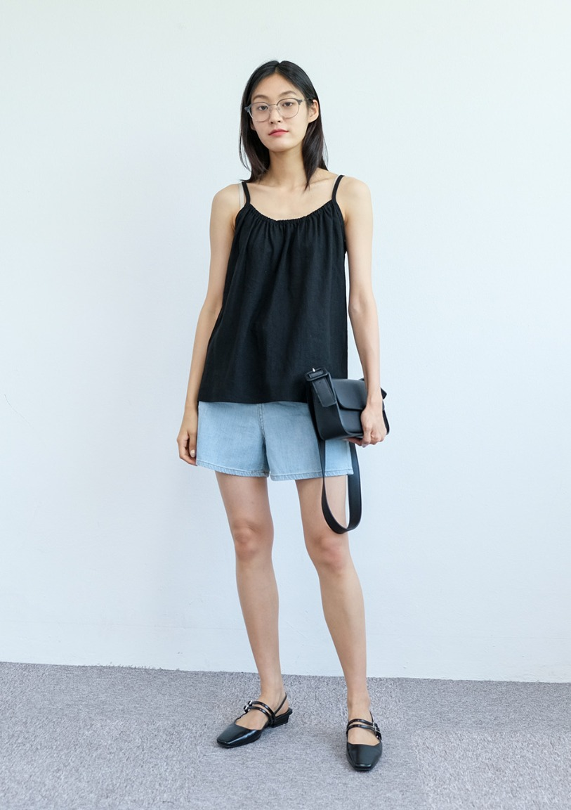 [당일출고] banding linen sleeveless [4 colors]