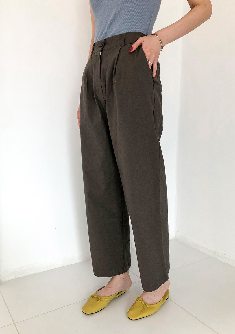 [당일출고] back banding straight pants [3 colors]