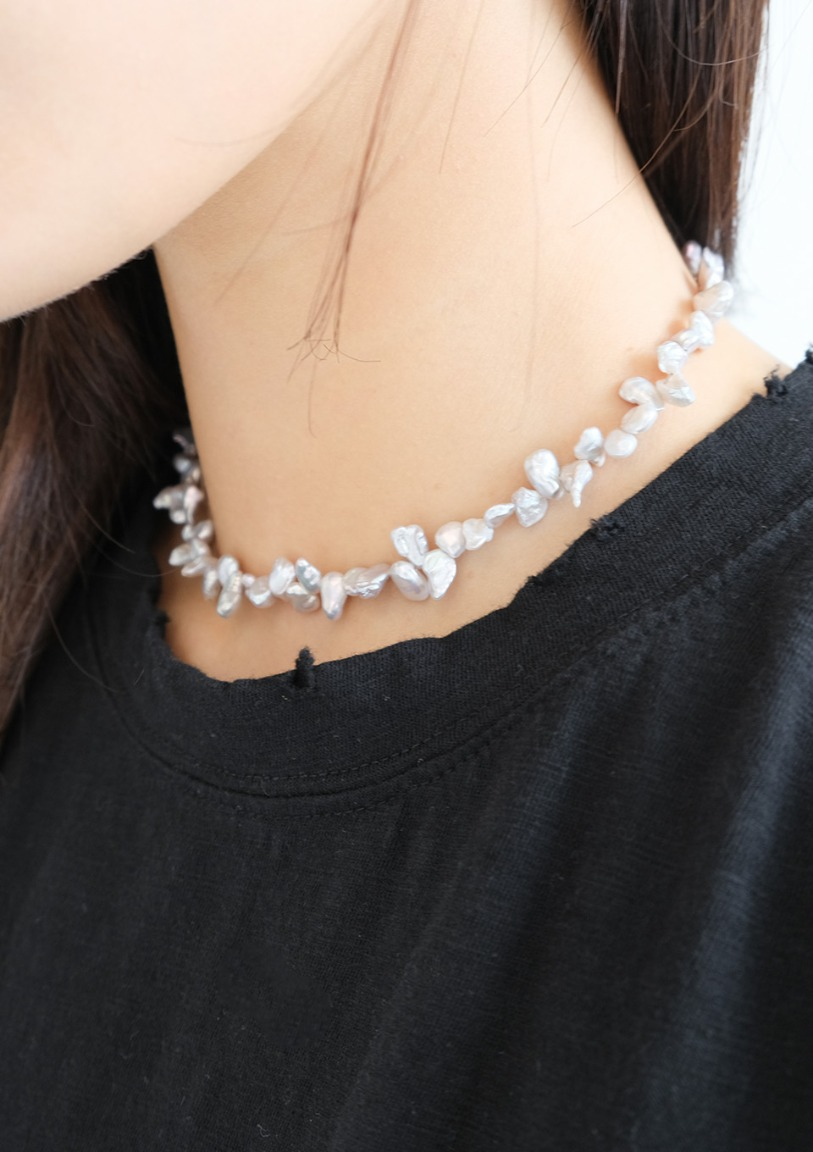 [당일출고] ugly natural pearl necklace