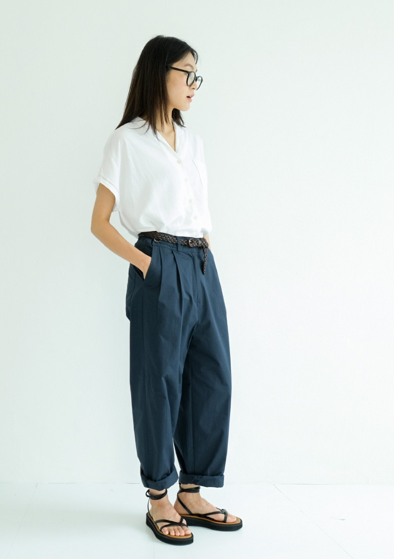 [당일출고] buckle cotton pants [2 colors]