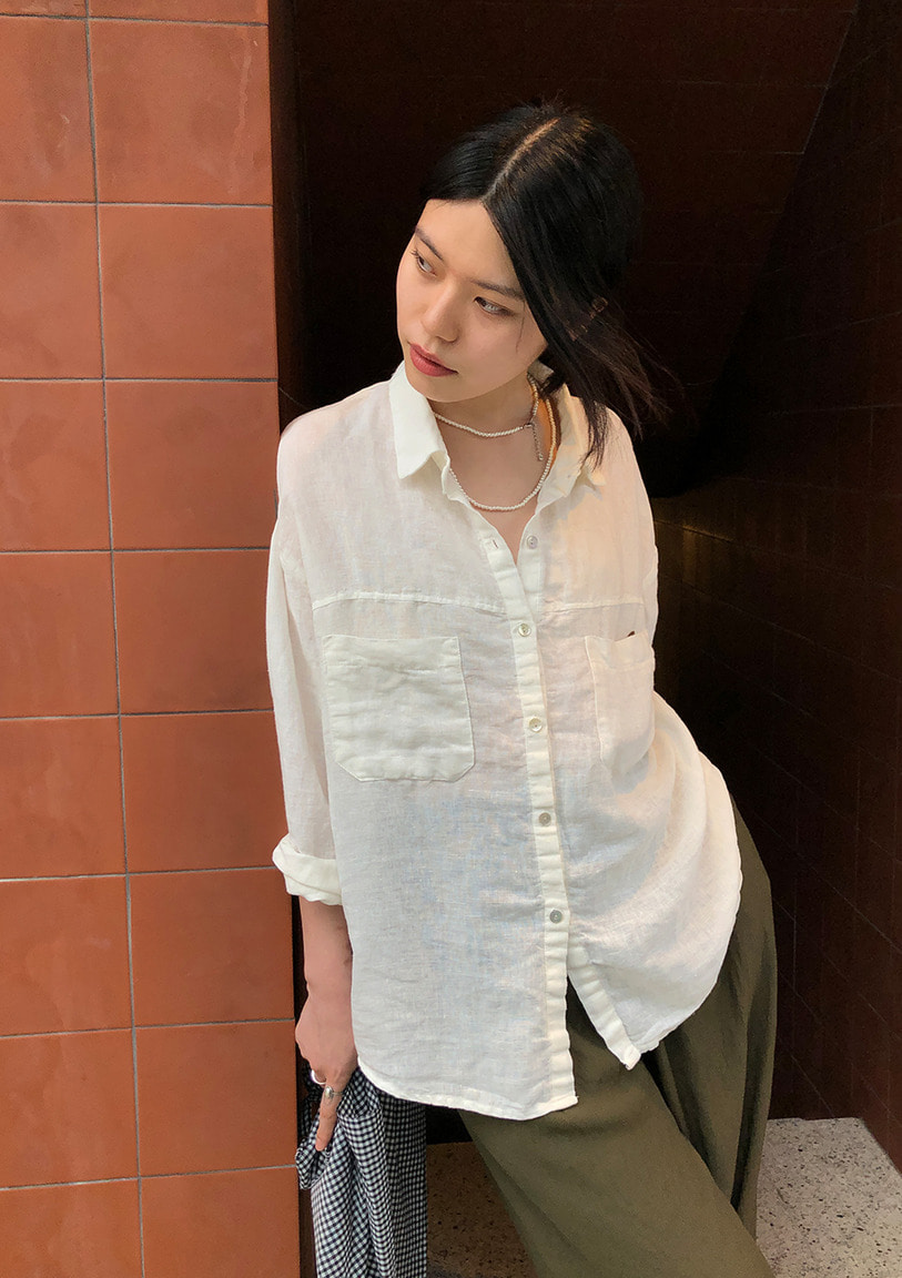 [당일출고] pure linen shirt [2 colors]