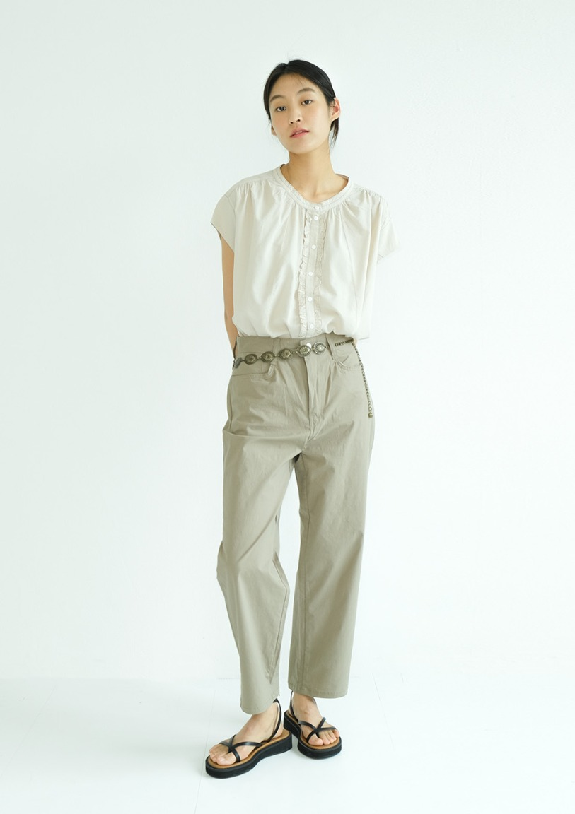 [당일출고] light cotton washed pants [2 colors]