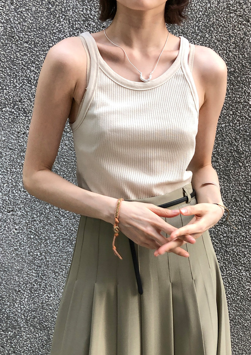 [당일출고] ribbed modal sleeveless [4 colors]