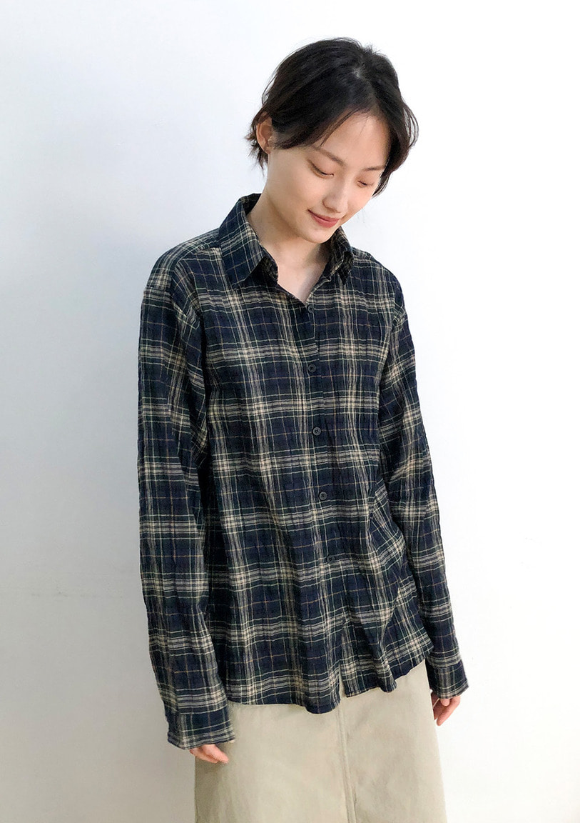 [당일출고] washed classic check shirt [2 colors]